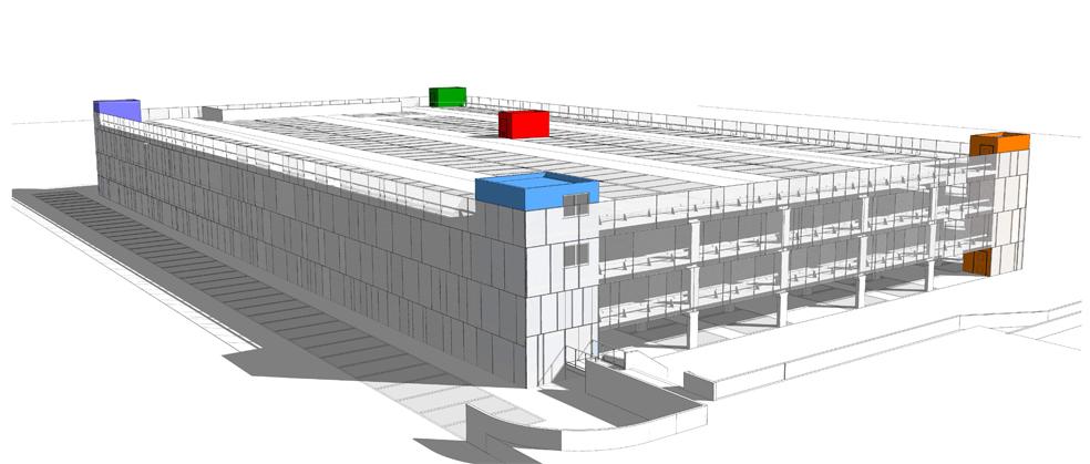 Nieuw parkeergebouw UZA