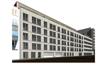 CORES CRELANResidentiële huisvesting Van Schoonbekestraat (blok C&D), ondergrondse parking