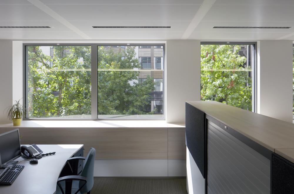 Burelen kantoorgebouw Fluxys, Guimardstraat 4, Brussel
