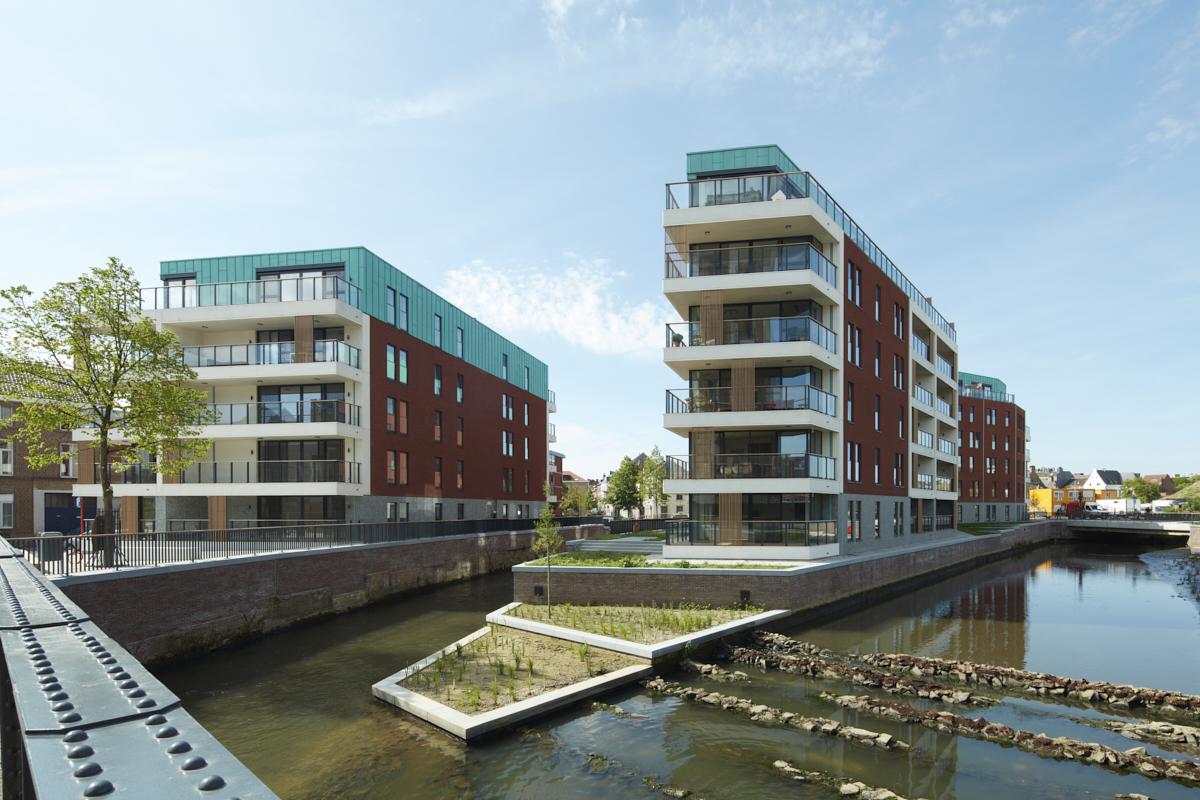 QUARTIER DIJLEDELTALogements résidentiels « Eiland en Feestzaal », parking souterrain, architecture du paysage