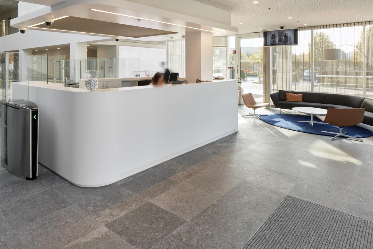 Balie N&P Building Procter & Gamble, Brussel