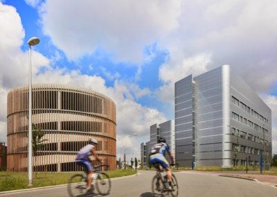BIOSCAPEBureaux, laboratoires Life Science Incubator, immeuble de parking