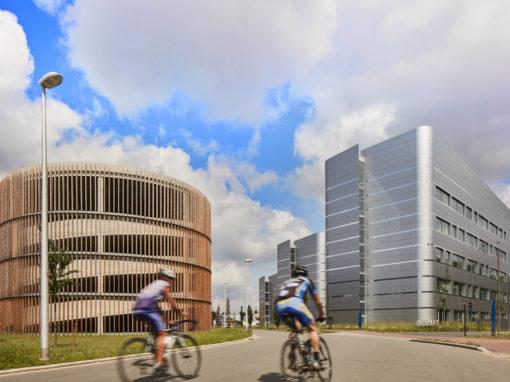 BIOSCAPE<br><span style='color:#31495a;font-size:12px;'>Offices, laboratories Life Science Incubator, car park building</span>