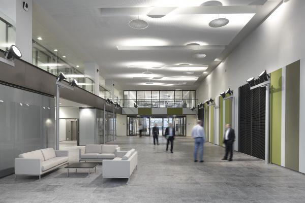Open ruimtes met veel licht voor het nieuwe kantoorgebouw BNP Parisbas Fortis met auditorium (fase 1), Brussel