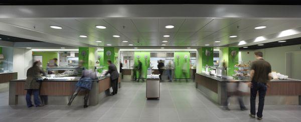 Receptie van het nieuwe kantoorgebouw BNP Parisbas Fortis met auditorium (fase 1), Brussel