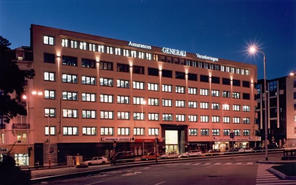 GENERALI INSURANCES<br><span style='color:#31495a;font-size:12px;'>Offices, car park Keizerinlaan, offices Ravensteinstraat </span>