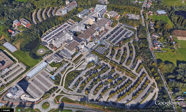Google Earth view Overzicht projecten van 1975 tot 1981 en van 2001 tot heden