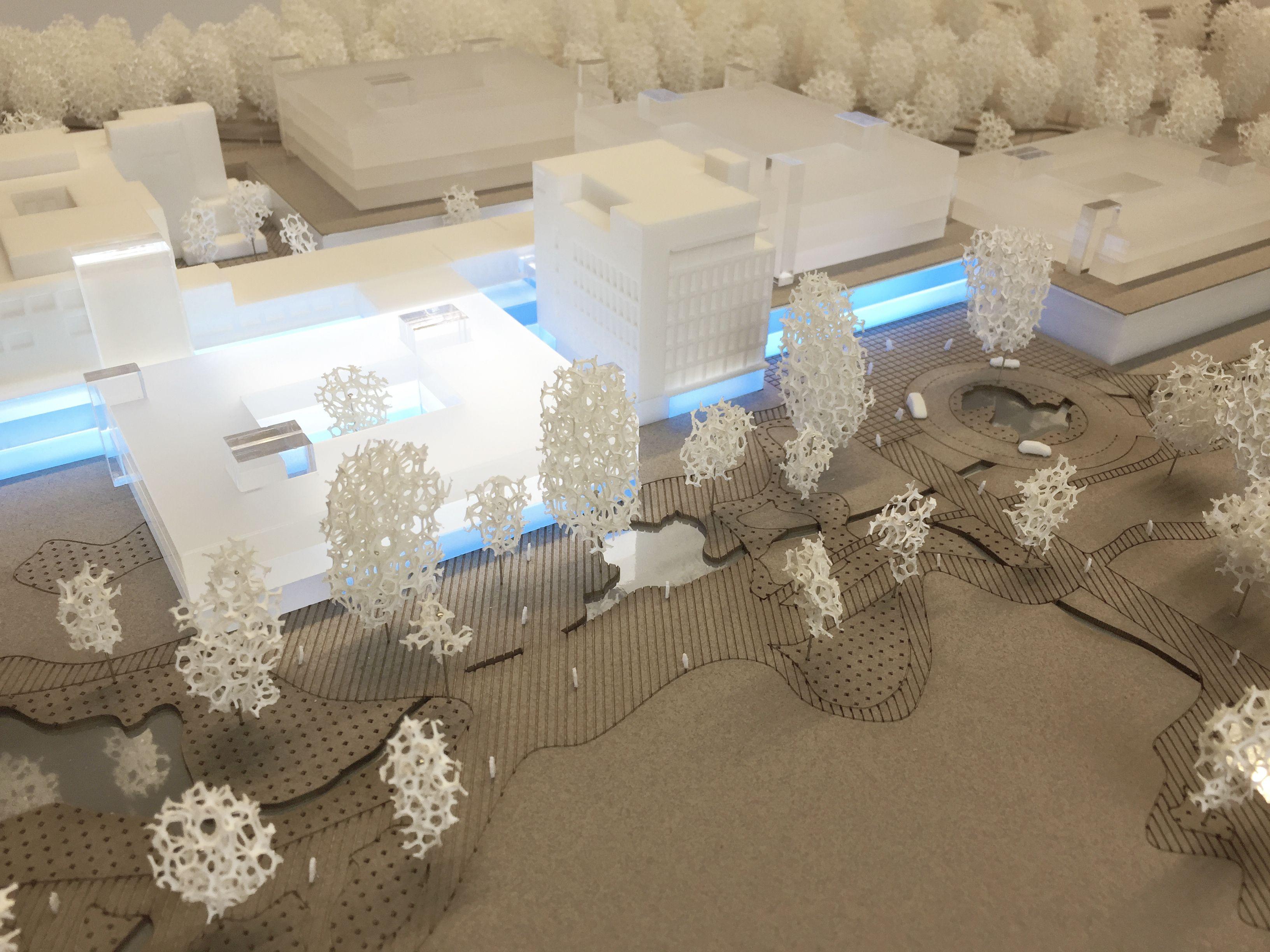 Wedstrijdproject oproep 2901 voor nieuw Algemeen ziekenhuis Turnhout met parkeergarage en pleinen