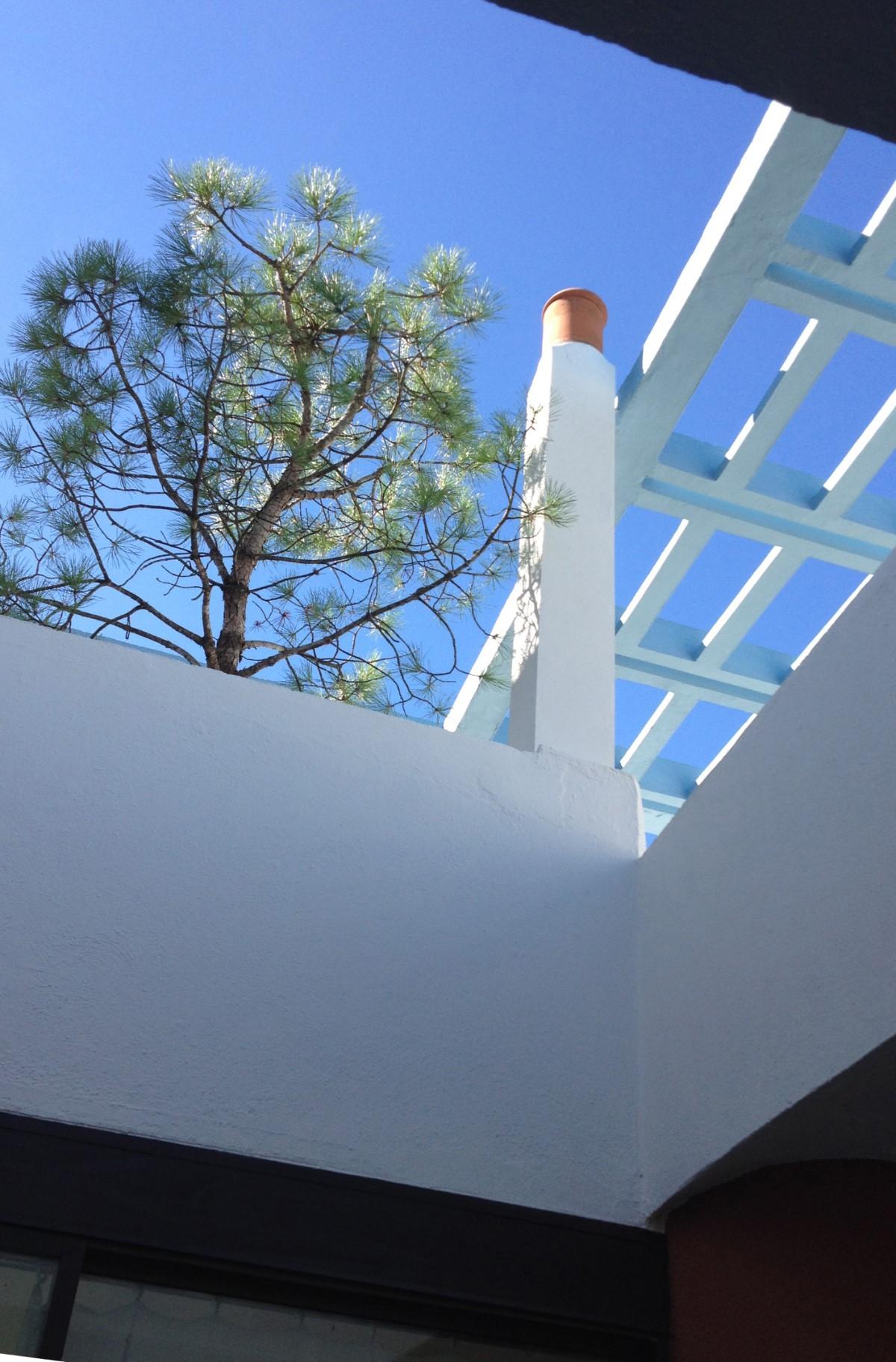 Sky, space, trees, steel and cement-Cité Frugès-Le Corbusier - Martine Gysen