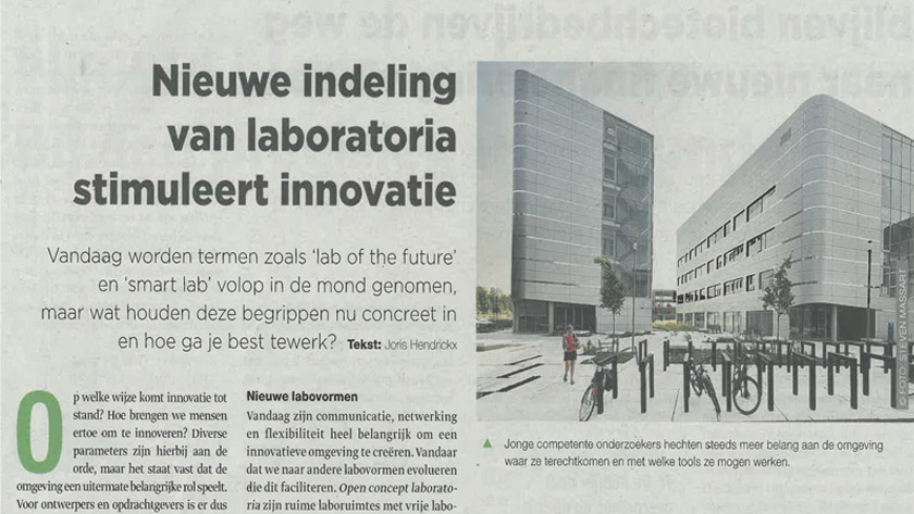 Nieuwe indeling laboratoria stimuleert innovatie