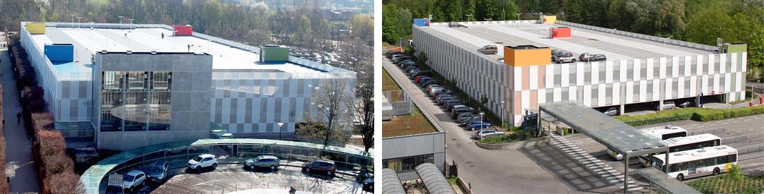 UNIVERSITY HOSPITAL ANTWERP<br><span style='color:#31495a;font-size:12px;'>2 parking buildings</span>