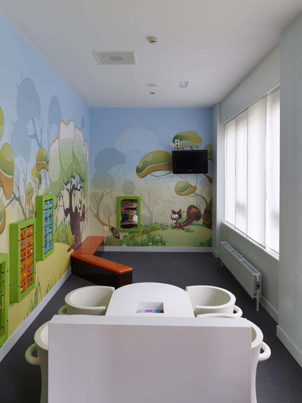 Wachtruimte nieuw chirurgisch dagziekenhuis Sint-Augustinus, Wilrijk